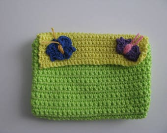 Floral cotton pouch