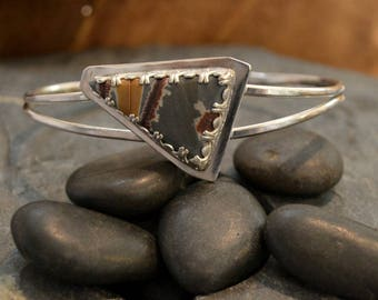"Sonoran Sunrise cuff bracelet in solid sterling silver.  Can be sized to fit you between 5.5-7"" wrist"