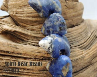 Blue Zuni Bears  Typical Blue Sodalite Gemstone for Earrings and Accent 1 pair