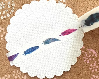 Washi Tape: Little Feathers