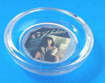Handmade Flashdance Glass Ashtray, Flashdance,  Ashtray, 1980s Movie Ashtray, Jennifer Beales, Dance Ashtray, Made By Mod.