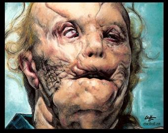 Impression 8 x 10» - Mason Verger - Gary Oldman Hannibal Lecter Dark Art horreur Anthony Hopkins cannibale tueurs en série Pop Art Lowbrow sang