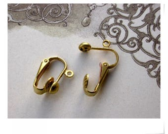 2paires 3.9 pounds 17x10mm brass clip earring set