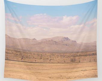 desert wall tapestry, texas wall tapestry, west texas, big bend, dorm tapestry, dorm decor, apartment decor, desert decor, wild west,