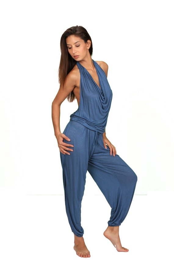 Evelina Onepiece Jumpsuit in Periwinkle for Womens Summer Fashion by Paramita Designs