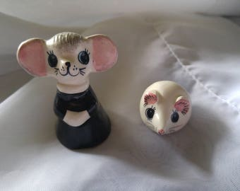 Two Vintage Philip Laureston Mice - Adult Church Mouse and Child Mouse