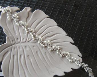 Bridal belt, wedding belt, pearl belt sash, rhinestones sash belt, wedding accessories