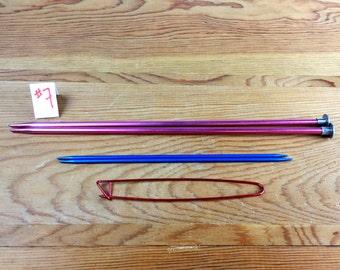 """VINTAGE Knitting Needle Set - #Pink #9 #Needles 10""""  (Set #7)"""