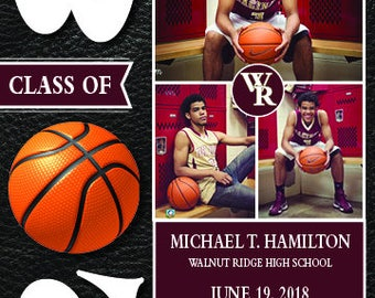 Customized Graduation Announcement/Invitation-Digital Printable Download- SPORTS THEME