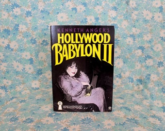 Kenneth Anger's Hollywood Babylon 2. 1985 First Trade Paperback Edition Vintage Book On Hollywood Scandals. Church of Satan and Thelemite