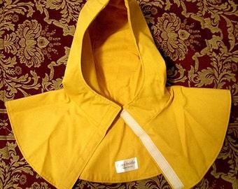 Gold Red or Brown SCA Rapier Armor - Undermask Fencing Hood