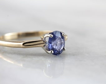 Simple Sapphire Solitaire in Vintage Setting  Q27987-R