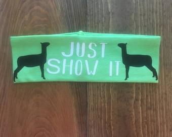Show Lamb Headband, Just Show It, Lamb Workout Headband, Exercise Headband, Barn Attire, Stock Show Clothes, FFA Lamb, 4-H Lamb, Show Sheep