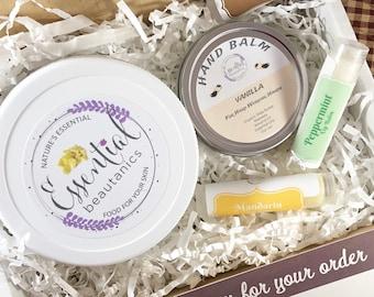 Beauty Gift Box Graduation Gift Lip Balm Hand Balm Whipped Shea Butter Foot Cream Shower Gift Just Because Gift Whipped Mango Butter