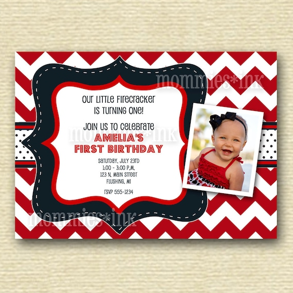 May The 4th Be With You Invitations: Items Similar To Red White And Navy Blue Birthday Party