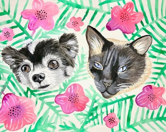 Acrylic Pet Portrait, Custom