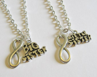 2 Sisters Infinity Necklaces Big and Little Sister
