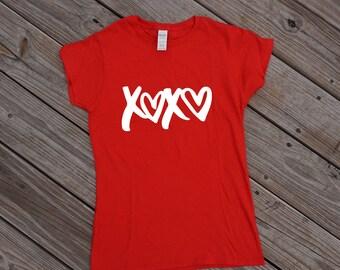 XOXO TShirt, Valentines Shirt, Holiday Shirt, Valentines Day Shirt, Love Shirt, XOXO T Shirt, xoxo shirt, Valentines Shirt Women
