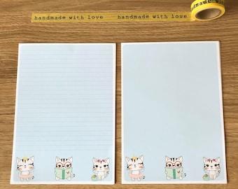 Blue Cat Snail Mail Pen Pal Papers