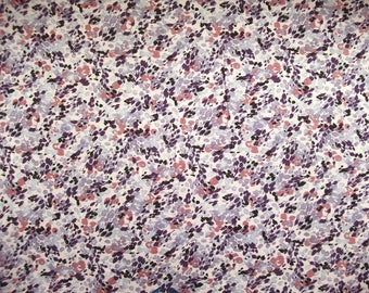 Viscose-Jersey P092083 in rosé with floral print purple