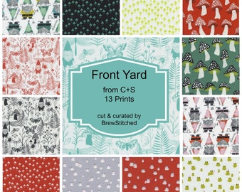 PREORDER - Fat Quarter Bundle - Fabric by the Yard - Modern Quilt Fabric - Gnome Fabric - Cotton+Steel - Sarah Watts - Includes 13 Prints