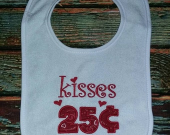 Valentine's Day Bib, holiday bib