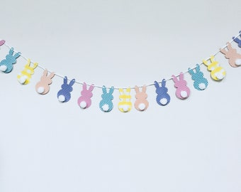 Easter Bunny Banner-Happy Easter! Spring Banner