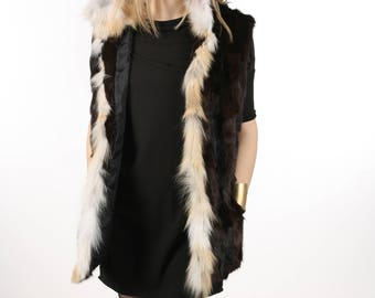 Luxury gift/ Sable fur vest/Wedding,or anniversary present