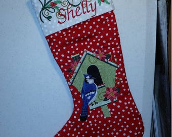 Custom Designed Christmas Stockings -- Heirloom Quality -- Embroidered, Christmas, Stocking, Quilted, Personalized, Unique