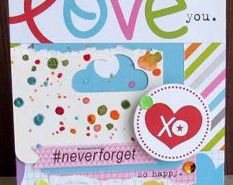 Love you - {greeting card & envelope}