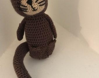 Crocheted Otter Doll
