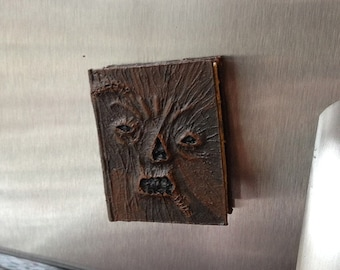 Mini-nomicon Magnet, Necronomicon Ex Mortis Magnet, Groovy horror themed Evil Dead magnet