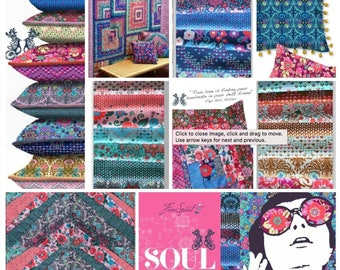 Soul Mate Bundle by Amy Butler for Free Spirit - 24 Fat Quarters of Mod Florals + Geometrics