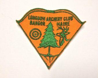 Vintage Longbow Archery Club Bangor Maine Longbow Bowhunting Patch
