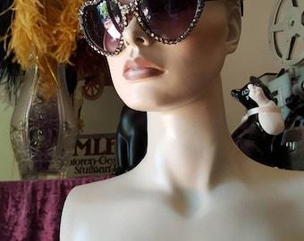 Heart Shaped Rhinestone Sunglasses