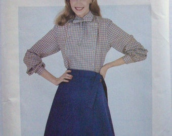 Beginner Sewing Pattern - Front Wrap Skirt - Butterick 3290 - Size X-Large, Waist 34 Inches/87cm - Uncut