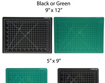 Universal DIY Craft Self Healing Cutting Mat Hobby Tool (2 Sizes and Colors) Black and Green 9 x 12 or 5 x 9 Inch Workshop Essentials Board