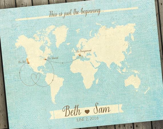 Antique world map wedding guest book alternative map custom gumiabroncs Images