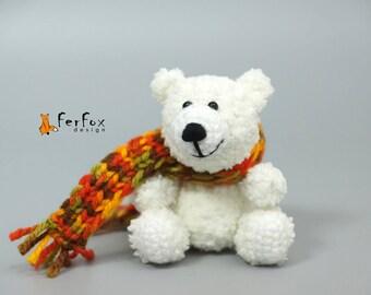 Miniature polar bear Stuffed animal Plush polar bear soft toy Christmas gift Stocking filler Teddy bear Christmas decor Polar bear figurine