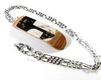 Recycled Skateboards, Skateboarder Gift, Skateboard Art, Skater Gift, Christmas Gifts, Skate Deck Necklace, Tech Deck, Mini Skateboard