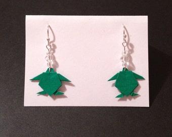 Origami Sea Turtle Earrings