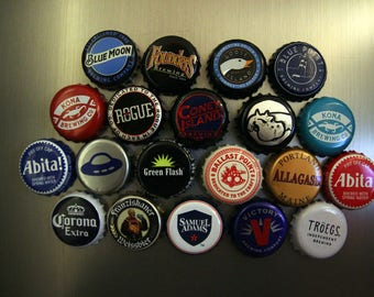 Recycled Beer Bottle Caps Magnets