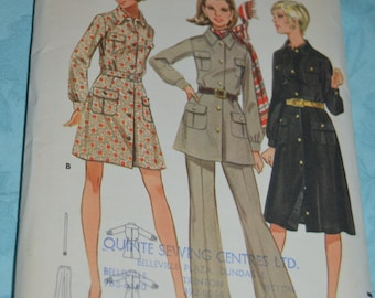 Butterick 5557 Misses One Piece  Dress and Pants Sewing Pattern  - UNCUT - Size 12 Bust 34