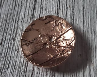 Copper Button ~1.5""