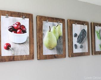 Rustic Food Photography Bundle - Cherries, Pears, Blackberries & Peas - Printable Instant Digital Download - Kitchen Decor/Wall Art