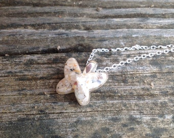 Pet Ash Pendant, Butterfly Pendant, Pet Memorial Jewelry, Sterling Silver Necklace, Pet Cremation, Pet Ashes, *introductory price**