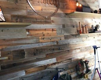 Reclaimed wood wall - reclaimed wood paneling - reclaimed paneling - wall plank  - reclaimed wood- 8.25 per square foot
