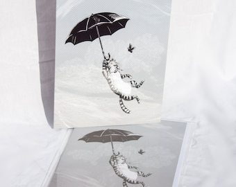 Cat Umbrella card