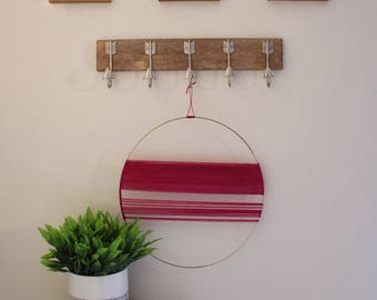 Yarn and Ring Wall Hanging