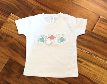 Boys crab trio shirt